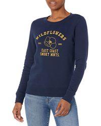 Amazon Essentials Classic Fit Long Sleeve Graphic Crewneck Sweatshirt Sweat-Shirt - Bleu