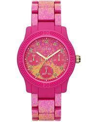Guess Ladies Funfetti Watch W0944L3 - Pink