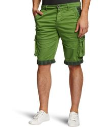 Desigual Pant_banjul Boot Cut Shorts Verde Mckennan Small Size 30 - Green