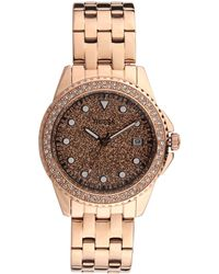 Guess Spritz Quartz Crystal Rose Gold Dial Ladies Watch W1235L3 - Metallizzato