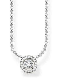 Thomas Sabo S-Collier Glam & Soul Argent Sterling 925 Pavé d'Oxydes de Zirconium blancs Longeur de 40 à 45 cm KE1494-051-14-L45v - Métallisé