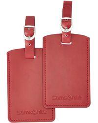 Samsonite Travel Accessoire Etiquette pour Bagage - Rouge