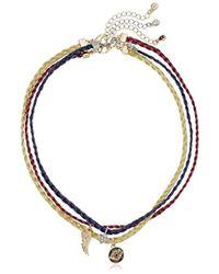RACHEL Rachel Roy - S Threaded Choker Trio Chain Necklace, Gold, One Size - Lyst