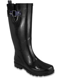Nautica Finsburt 2 Knee High Waterproof Tall Rubber Snow/Rain Boot - Nero