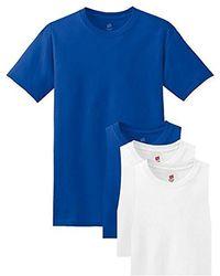 Hanes 6-pack Freshiq Crew T-shirt - Blue