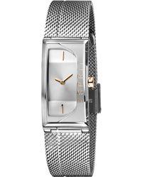 Esprit S Analogique Quartz Montre avec Bracelet en Acier Inoxydable ES1L015M0015 - Métallisé