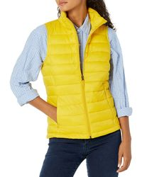 Amazon Essentials Gilet Leggero e Resistente all'Acqua. Down-Outerwear-Vests - Giallo