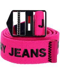 Tommy Hilfiger Belt 3.5 TJM Explorer Belt 3.5 W100 Pink Glo - Rose