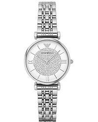 Emporio Armani - Ar1925 Retro Silver Watch - Lyst