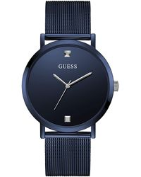 Guess - Analog Quartz Watch With Stainless Steel Strap Gw0248g4 - Lyst