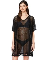 Iris & Lilly Amazon Brand - Women's Cover-up, Black (black Lace), S, Label:s