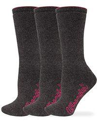 Wrangler Ladies Cushion Angora Crew Socks 3 Pair Pack - Brown