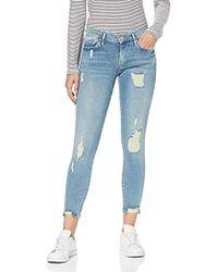 True Religion Halle Blue Denim Jeans Skinny Donna