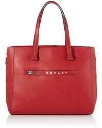 Replay Fw3843.000.a0132d - Donna, Rosso (Gloss Red), 19x33x39 cm (W x H L)