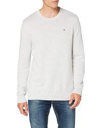 Tommy Hilfiger Tjm Essential Crew Neck Sweater Maglione - Bianco