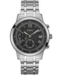 Guess - Orologio Cronografo Quarzo Uomo con Cinturino in Acciaio Inox W1001G4 - Lyst