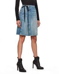 G-Star RAW Lintell Wrap Skirt Gonna - Blu
