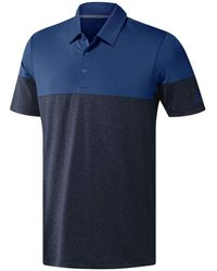 adidas Ultim 365 Heather Blocked Polo Shirt Lc - Blue
