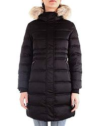 Calvin Klein Down Long Nylon Puffer W Down Coat - Black
