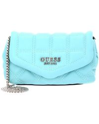 Guess Kamina Mini Bag with Flap Aqua - Blu