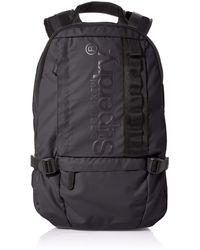 Superdry Slim Line Tarp Rucksack 's Backpack - Black