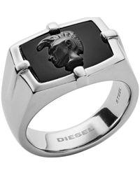 DIESEL Piercing ad anello Uomo acciaio_inossidabile - DX1175040-10 - Metallizzato