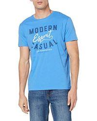 Esprit Camiseta para Hombre - Azul