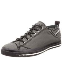 770f7b90b861dd Lyst - DIESEL Mens Bright White / Red Textile Exposure Low Trainers ...
