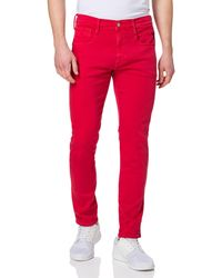 Replay Anbass Hyperflex Colour Xlite Jeans - Rouge
