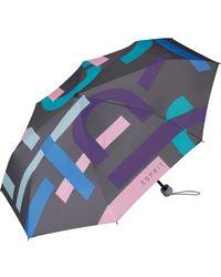 Esprit Regenschirm im Handtaschen-Format - Grau