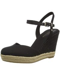 Tommy Hilfiger Basic Closed Toe High Wedge Sandals, - Black