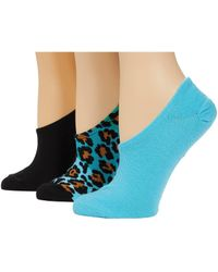 Converse 3-pair Pack Ombre Color-block Leopard Made For Chucks Black/cyan Assorted 4-10 Shoe