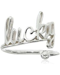 ALEX AND ANI - S Lucky Ring Wrap - Precious Metal - Lyst