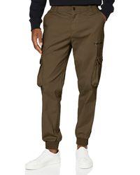 Calvin Klein Cargo Slim Mixed Med Cuffed Pantalones - Verde