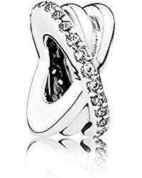 PANDORA Moments Funkelnde & Polierte Linien Zwischenelement Sterling Silber 791994CZ - Mettallic