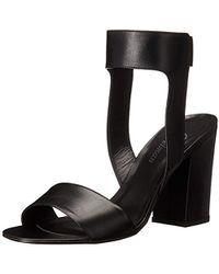 8f237a94eff5 Lyst - Delman Angie Platform Wedge Sandal in Black
