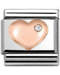 Nomination Charm 925 Silver With White 430305/01 - Multicolour