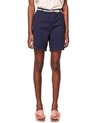 Esprit Pantalones Cortos para Mujer - Azul