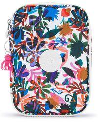 Kipling 100 Pens Printed Case Berry Floral - Bleu