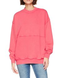 Tommy Hilfiger Oversized Washed sudadera - Rosa