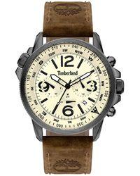 Timberland Campton orologio Uomo Analogico Al quarzo con cinturino in Pelle di vitello 15129JSU-14 - Marrone