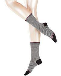 Esprit Stripe, Calcetines para Mujer - Negro