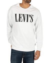 Levi's Relaxed Graphic Crewneck Sudadera - Blanco