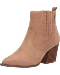 The Drop Sia Pointed Toe Western Ankle Boot - Marron