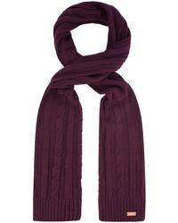 Regatta S Multimix Acrylic Cable Knit Fleece Lined Walking Scarf - Multicolour