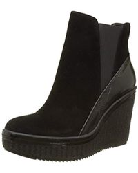 Calvin Klein - ''s Sasha Suede/box Smooth Ankle Boots - Lyst