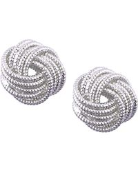 Nine West - Chain Gang Knot Button Earrings - Lyst