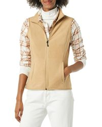 Amazon Essentials Full-Zip Polar Fleece Vest Outerwear-Jackets - Neutro