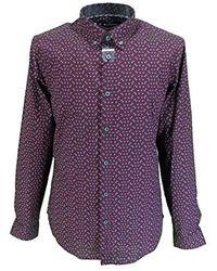 Ben Sherman Retro Print Shirts - Purple