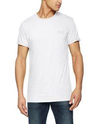 Superdry Label Lite Longline tee Camiseta - Blanco
